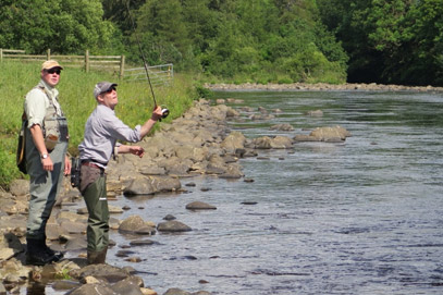 Fly fishing the upper Tees
